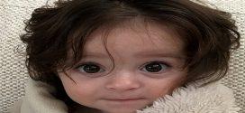 Ez a kisbaba még csak fél éves, de már a válláig ér a haja