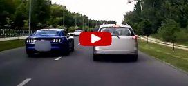 Életveszélyeset előzött az amerikai luxuskocsi Győrben
