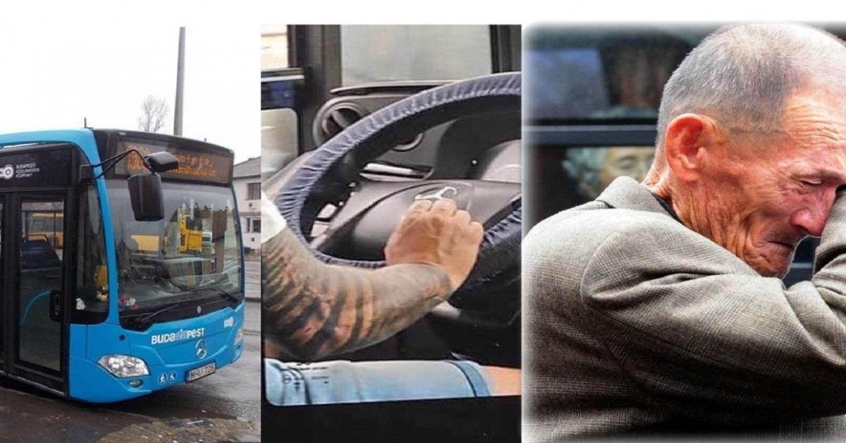 Ez a hajléktalan férfi sétált el a busz mellett, mikor a tetovált sofőr kinyitotta az ajtót és kiszólt neki… az egész busz hallgatott a döbbenettől
